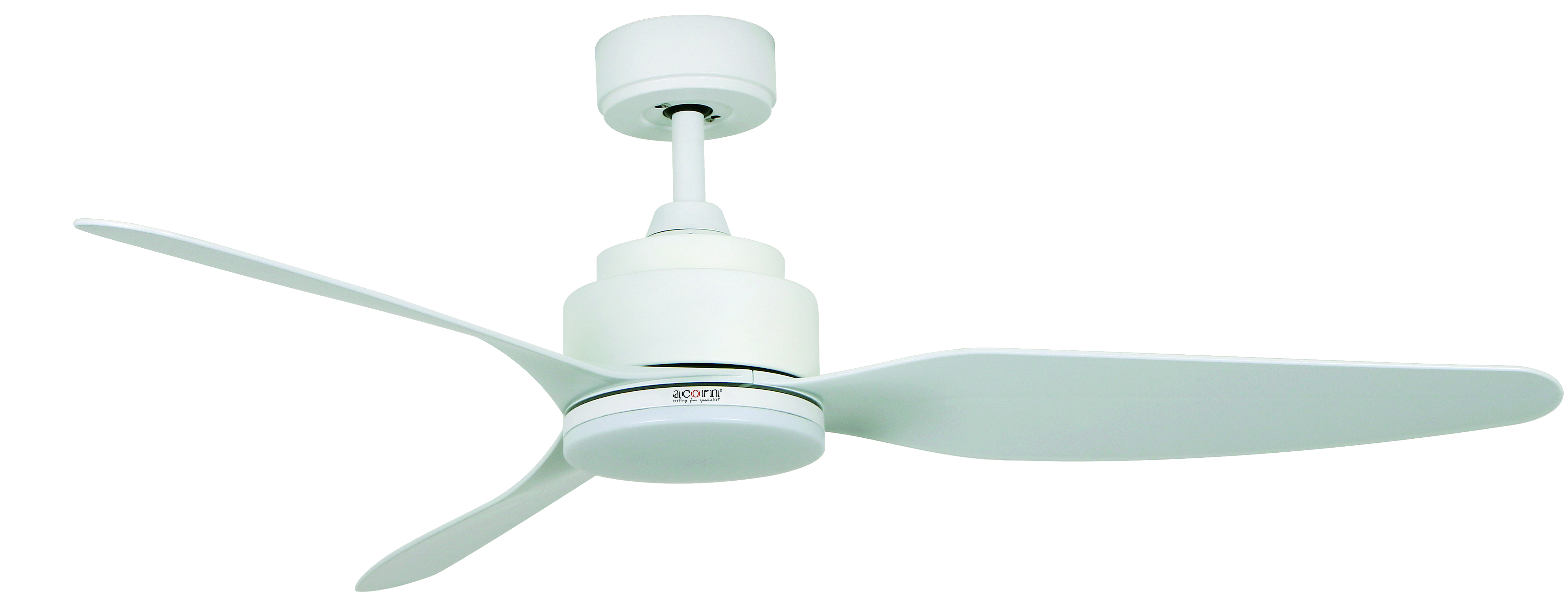 "Acorn AC 326 46"" 54"" LED Designer Ceiling Fan White"