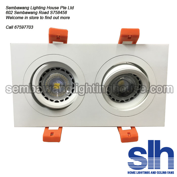 Nice Gu10 1345 2 Wh Led Spotlight Front Tilt  Ideas