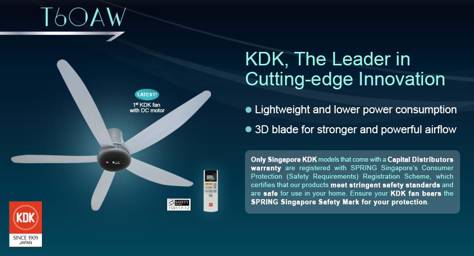 Kdk T60aw Dc 60 Quot Ceiling Fan Grey Sembawang Lighting