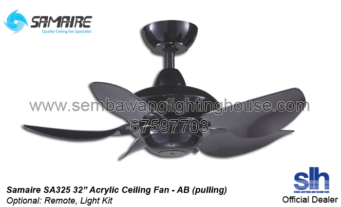 Samaire sa325 32 ceiling fan brown ab sembawang lighting house samaire sa325 ceiling fan sembawang lighting house ab aloadofball Gallery