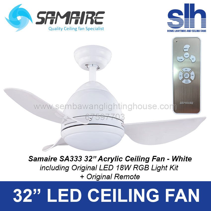 Samaire sa333 33 led ceiling fan antique brown ab samaire sa333 ceiling fan sembawang lighting house wh aloadofball Images