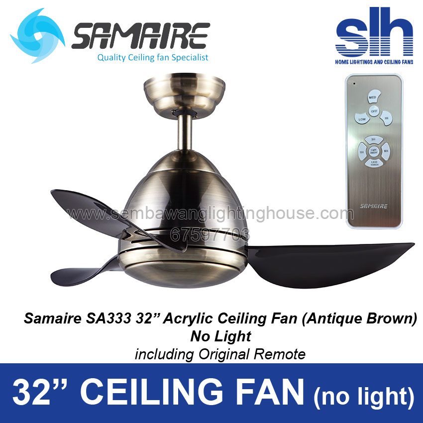 Samaire sa333nl 32 ceiling fan no light brown sembawang samaire sa333nl 32 ceiling fan no light brown aloadofball Image collections