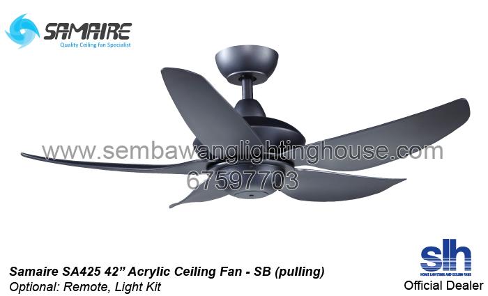 Samaire sa425 42 acrylic ceiling fan matt black sembawang samaire sa425 acrylic ceiling fan sembawang lighting house aloadofball Image collections