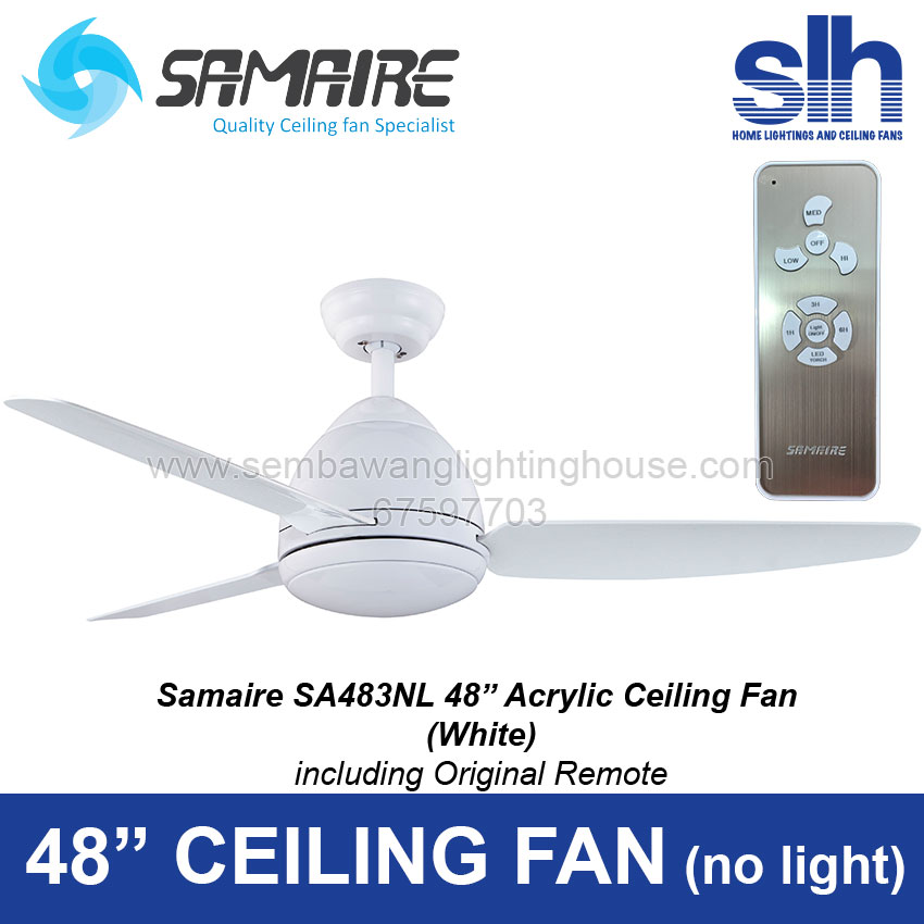 48 Ceiling Fan Without Light